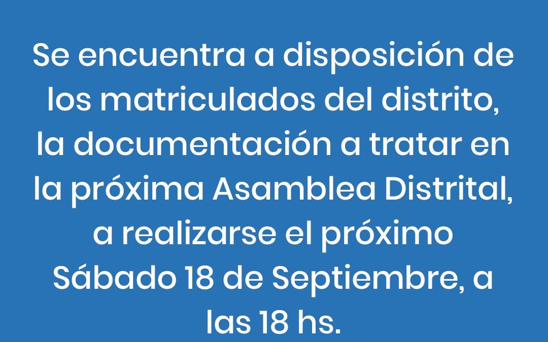 Documentación para la Asamblea Distrital